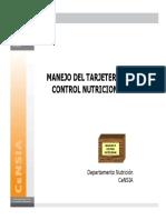 Manejo Del Tarjetero de Control Nutricional