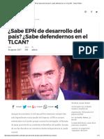 ¿Sabe EPN de Desarrollo Del País_ ¿Sabe Defendernos en El TLCAN_ - Indice Político