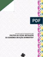livro 2009 - politica cota mitigação isonomia em Ação Afirmativa