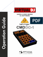 Behringer CMD DC1 VirtualDJ 8 Operation Guide