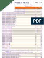 Preços dos Insumos - RJ 2010-03