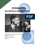 Experimentos de Óptica Geométrica