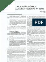Daniel Sarmento - Emenda Constitucional Nº 19_98