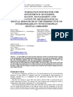 A New Information System for Pompeii- Integ, Mngt and Preservn of Archaeological Digital Resources in the Perspective of Interoperability With Digital Libs