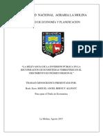 relevancia de proyectos ambientales en el crecimiento economico