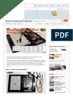 Arduino Temperature Indicator Instructables Com