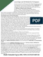 Close Down Freemason Societies and All British Era Newspapers