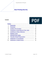 How does printing ink dry?