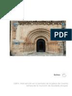 Memoria de la portada románica de Escalada (Burgos)
