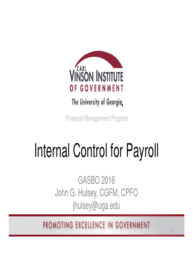 cviog payroll internal controls payroll internal control