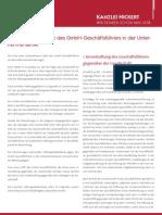 NICKERT NICKERT Whitepaper - Haftungstatbestaende für GmbH Geschaeftsfuehrer in der Unternehmenskrise
