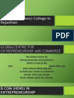 Best B.com (Hons) College in Rajasthan