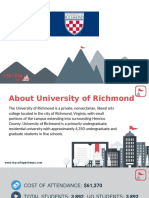 Study Abroad at  University of Richmond, Admission Requirements, Courses, Fees