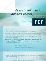 Protocols and Their Use in Aphasia Therapy