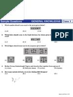 NSTSE Sample Paper Class 5