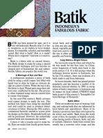 Batik—Indonesia's Fabulous Fabric