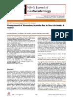 Trombocytopenia in Cirrhosis