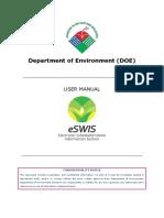 ESWIS External User Manual