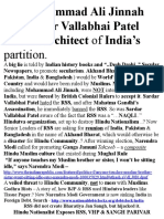 Not Mohammad Ali Jinnah but Sardar Vallabhai Patel Was the Architect of India's Partition