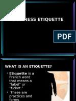 Buisness Etiquette
