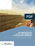 Optimizacion de La Ley de Corte en Operaciones Mineras