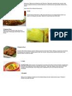 34 Propinsi Ciri Khas Makanan