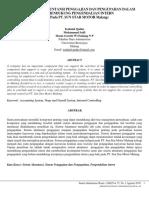 Analisis Sistem Akuntansi Penggajian Dan Pengupahan Dalam Upaya Mendukung Pengendalian Intern