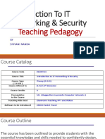 Introduction to IT Networking & Security - Teaching Pedagogy
