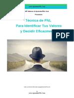 Técnica PNL Para Identificar Tus Valores y Decidir Eficazmente