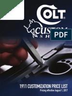 Colt Custom Shop Order Form