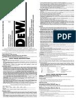 Instructivo de operacion Amoladora DW402