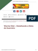 Warrior Diet - Detalhando a Dieta Do Guerreiro - Massa Magra Total