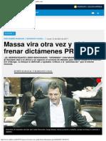 Massa Vira Otra Vez y Pide Frenar Dictámenes PRO - Ambitocom