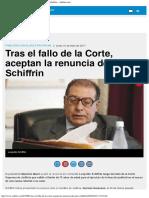 Tras El Fallo de La Corte, Aceptan La Renuncia Del Juez Schiffrin - Ambitocom