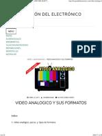 Video Analogico y Sus Formatos