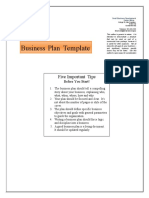 Business Plan Template Sbdcbelize