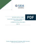 Btech Curriculum Electronics and Communication Engineering Regulations 2013 2014 (1)