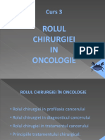 Curs 3 Oncologie - Rolul Chirurgiei