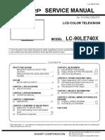 LC 90LE740X Sharp