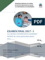 Caratula Para Examen FINAL Enfermeria