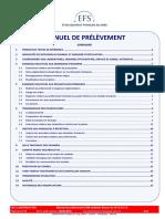 LBM Multisite Alsace EFS ALCA - Manuel de Prélèvement V13