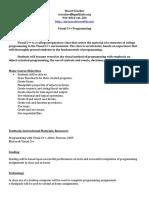 syllabus for c   programming 2017