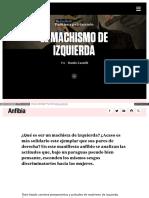 Www Revistaanfibia Com Ensayo El Machismo de Izquierda