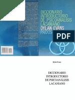 Diccionario Introductorio de Psicoanalisis Lacaniano Dylan Evans PDF