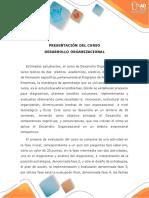 DESARROLO ORGANIZACIONAL_Presenyacioncurso