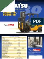 Catalogo Montacargas Fd30t 16 Fg30t 16 Komatsu Caracteristicas Tecnicas