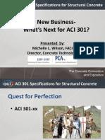 ACI 301- New Business- Whats Next- Wilson