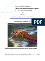 NAROtter Husbandry Guidelines published OCT 08 May 2009