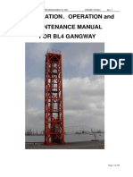 16. Gangway Tower Crane ( Intallation, Operation and Mainternance)