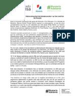 25-08-2017 ALCALDE EXPRESÓ PREOCUPACIÓN POR REUBICACIÓN Y ALTOS COSTOS DE PEAJES